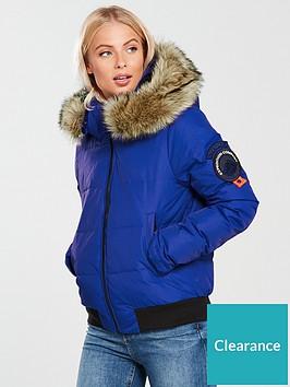 6bdcfe2a3ae1 Superdry Everest Ella Bomber Jacket - Cobalt