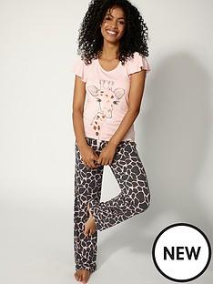boux-avenue-glitter-giraffe-pyjama-set-blush