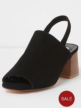 river-island-river-island-wide-fit-sling-back-shoes--black