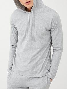 polo-ralph-lauren-hooded-lounge-top-grey-melange
