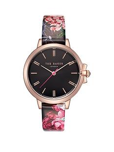 ted-baker-ruth-black-dial-and-rose-gold-bow-detail-case-with-palace-gardens-floral-print-leather-strap-ladies-watch