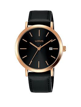lorus-lorus-black-and-rose-gold-dial-black-leather-strap-mens-watch