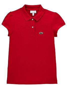 3d71d4ee12 Girls Short Sleeve Scalloped Collar Pique Polo