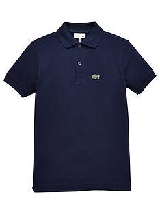 prod1087994948: Boys Short Sleeved Classic Pique Polo Shirt - Navy