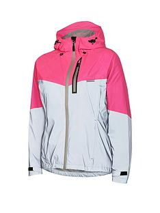 9888ae87f MADISON Stellar Reflective Women s Waterproof Cycle Jacket - Silver Pink Glo