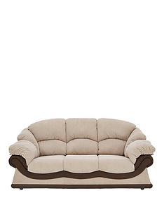 elm-faux-snakeskin-and-fabric-3-seater-sofa