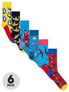 happy-socks-6pk-the-beatles-socks