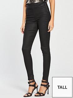 v-by-very-tall-charleynbsphigh-waistednbspsuper-skinny-coated-jean