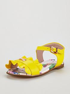 Baker by Ted Baker Toddler Girls Frill Sandal - Yellow adf7ba5e2ecf