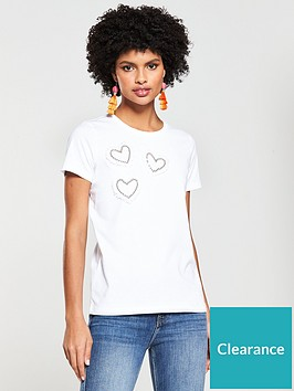 v-by-very-heart-pearl-placement-tshirt