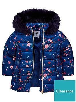 mini-v-by-very-girls-floral-padded-jacket-navy