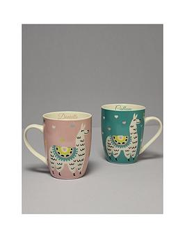 personalised-set-of-2-llama-mugs-his-and-hers