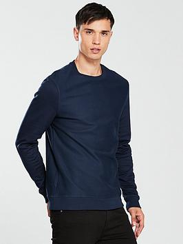 river-island-navy-twill-crew-neck-sweatshirt
