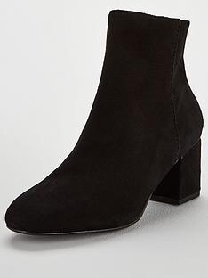 dc5b183e6c Dune London Olyvea Block Heel Ankle Boot - Black