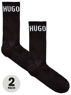 boss-bodywear-2-pack-logo-sport-socks-black