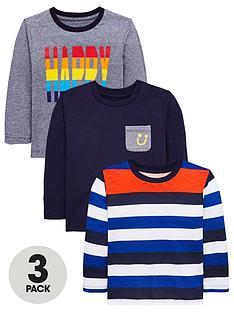mini-v-by-very-boys-3-pack-long-sleeved-happy-t-shirts-multi
