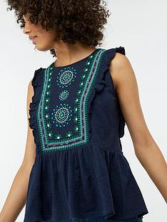 monsoon-mara-embroidered-top-navy