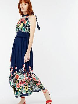 Discount Footlocker Pictures Navy Dress Monsoon Rosaline Print  Midi Wholesale Price Sale Online Buy Cheap Best Wholesale Cheap Enjoy Vkp58