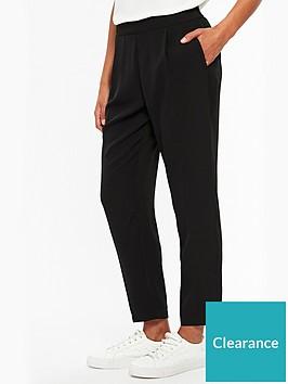 wallis-petite-henna-pull-on-trouser-black