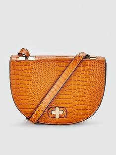 v-by-very-priya-croc-saddle-bag-mustard