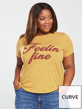 v-by-very-curve-feelin-fine-slogan-t-shirt-yellow