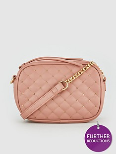 3edd5be8da V by Very Peggy Quilted Camera Bag - Dusty Pink