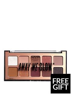 NYX PROFESSIONAL MAKEUP NYX Professional Makeup Away We Glow shadow palette 10G