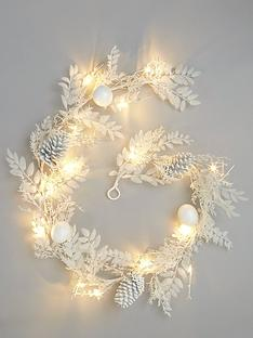 pre-lit-battery-operated-winter-white-garland-christmas-decoration