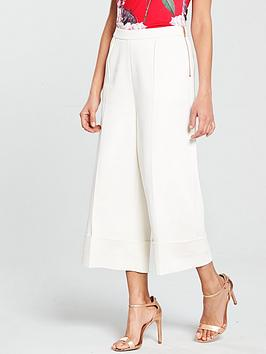 ted-baker-ppollyt-wide-leg-cuff-detail-culotte-ivory