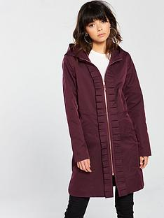 d3f2eff51253 Ted Baker Ted Baker Zowe Sateene Ruched Detail Hooded Parka