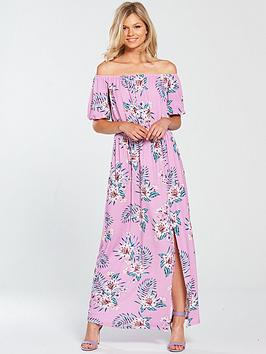 Cheap 2018 Factory Price Jersey  Very by Print Bardot Petite Dress V Maxi Discount Order geYg7b