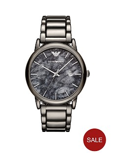 emporio-armani-gunmetal-stainless-steel-dress-braceletnbspmensnbspwatch