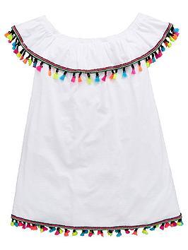 v-by-very-girls-white-bardot-tassel-dress