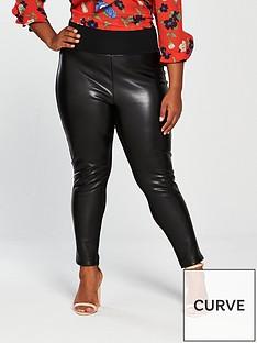 v-by-very-curve-pu-andnbspponte-legging-black