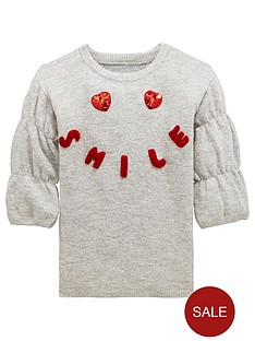 mini-v-by-very-sequin-heart-knitted-dress-grey