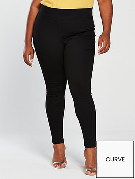 741329a069 V by Very Curve High Waisted Jegging - Black | littlewoodsireland.ie