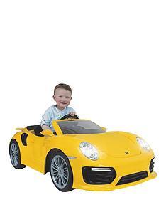 injusa-porsche-911-turbo-6-volt-battery-operated-replica-car