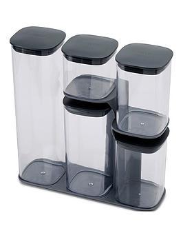 joseph-joseph-podium-5-piece-storage-jar-set-with-stand