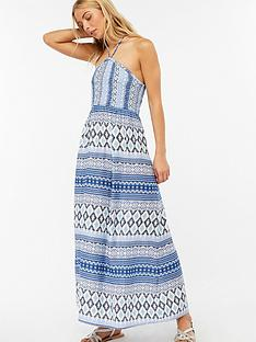 monsoon-lola-bandeau-dress-blue