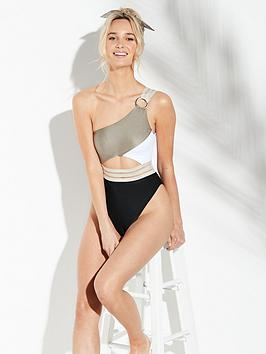One Island Elastic Shoulder Khaki Island River Swimsuit River Footlocker Outlet Visit Free Shipping Professional qUarxQWmS