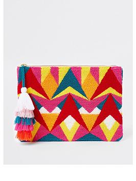 Patterned Clutch Island River Bag Pink  Multi Free Shipping Purchase Find Great Sale Online Outlet Locations Sale Online 6YwEx