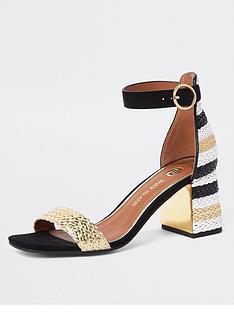 river-island-striped-block-heel-sandal-multi