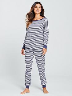 V by Very Stripe Pyjama Set - Navy 9042c9df2