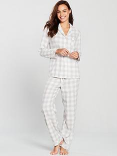 4f4981ac81 V by Very Revere Flannel Pyjamas - Grey Check
