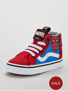 e4fe44e901b4bd Vans Vans Sk8-hi Zip Marvel Spiderman Toddler Trainer