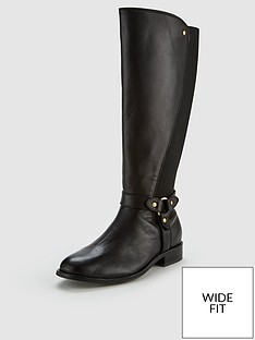 3f07b7ae32 V by Very Ivy Leather Knee Riding Boots - Black