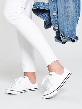 1084688e10ca Converse Chuck Taylor All Star Dainty Leather Ox - White ...