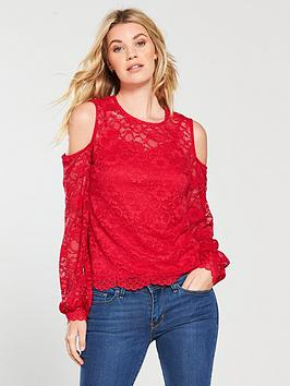 v-by-very-cold-shoulder-long-sleeve-lace-top-red