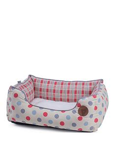 petface-cream-dots-check-square-bed-large