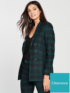 v-by-very-green-check-longline-suit-jacket